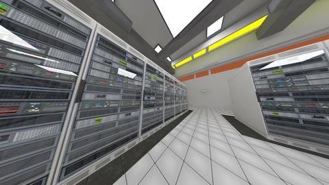 Data Center Server Room Cluster Farm 3D Animation 5 Animation