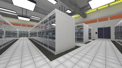 Data Center Server Room Cluster Farm 3D Animation 7 Animation