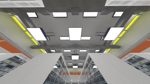 Data Center Server Room Cluster Farm 3D Animation 9 Animation