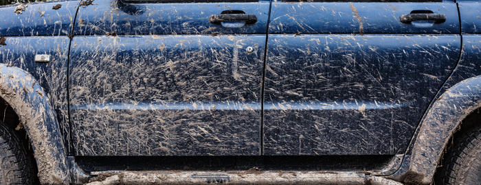 Side view of the dirty car Photo