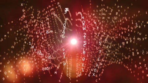 Spiral Spinning Letters and Digits in Cyberspace Animation
