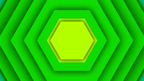 Colorful Background From Seven Hexagons Animation