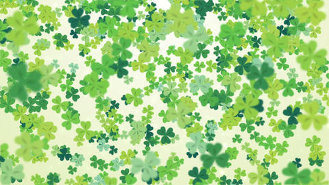 Clover leaf St Patrick's day background looped Animation