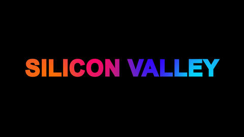common expression SILICON VALLEY multi-colored appear... Stock Video Footage