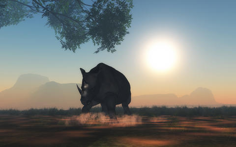 3D rhino ready to charge フォト