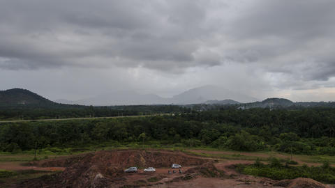 Timelapse Bukit Mertajam during raining day from day to night transition Live Action