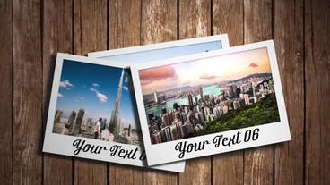 3D Photo Slideshow After Effects Template