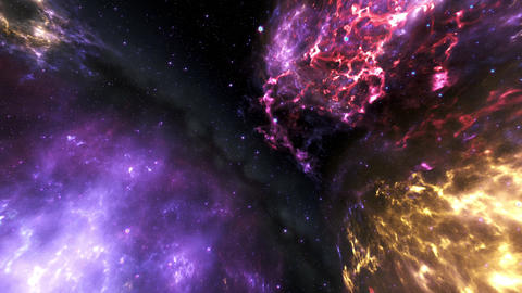 4K Flying through Nebulas in Galaxy out to Outer Space 3D Animation 1 Animation