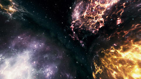 4K Flying through Nebulas in Galaxy out to Outer Space 3D Animation 2 Animation