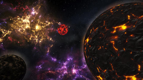 4K Planets and Stars in the Galaxy Cinematic 3D Animation 1 Animation