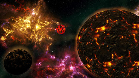 4K Planets and Stars in the Galaxy Cinematic 3D Animation 2 Animation