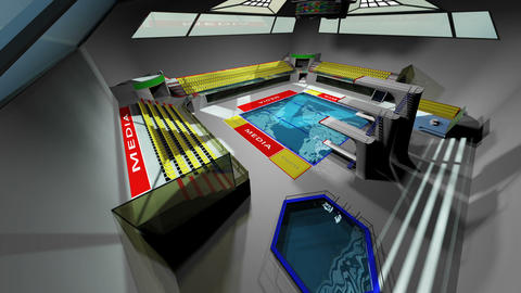 Diving Pool Arena Complex Extreme Wide Pan 3D Animation 1 Animation