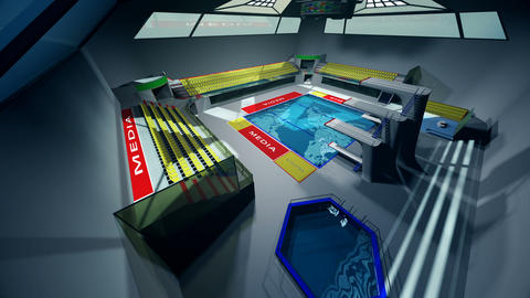 Diving Pool Arena Complex Extreme Wide Pan 3D Animation 2 Animation