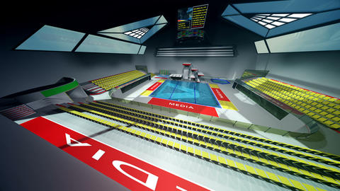 Diving Pool Arena Complex Extreme Wide Pan 3D Animation v2 2 CG動画