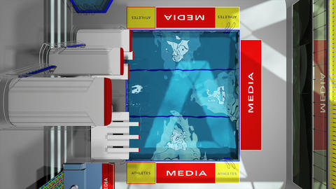 Diving Pool Arena Complex Flatlay View 3D Animation 1 Animation
