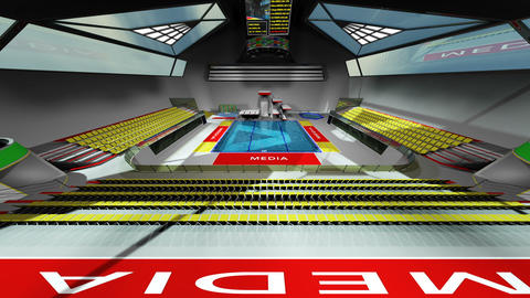 Diving Pool Arena Complex Wide Cinematic Dolly 3D Animation 1 Animation
