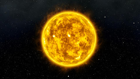 Sun with Flares and Bursts in Space Cinematic 3D Animation 4 Animation