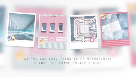 Square Photo Slideshow Premiere Proテンプレート