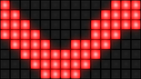 Red Disco nightclub dance floor wall glowing light grid background vj loop Animation