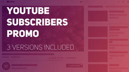 YouTube Subscribers Promo Premiere Pro Template