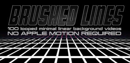 Bushed Lines Pack Apple Motion Template
