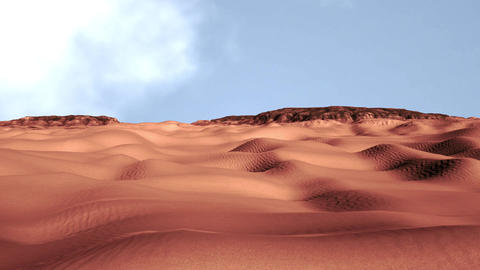 Sand and Rocks Desert 3D Animation 3 Animation