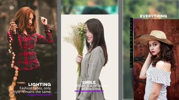 Vertical Slide show After Effects Template