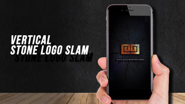 Vertical Stone Logo Slam Plantilla de After Effects