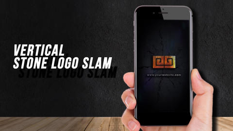 Vertical Stone Logo Slam After Effects Template
