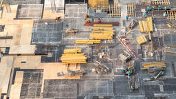 Top view timelapse video of construction site in beginning of building GIF