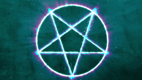 4K Inverted Pentagram Symbol 6 Animation