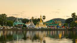 Temple Chong Klang and Chong Kham in Mae Hong Son province at Mae Hong Son, Footage