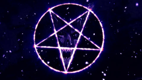 4K Pentagram Symbol with Revealing Satan Face v2 7 Animation