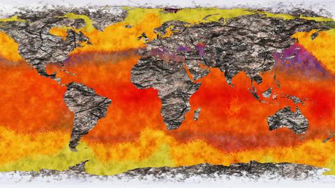 4K Death of Earth Global Warming Simulation Animación