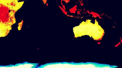 Earth Landmass Global Warming Southern Hemisphere 2 Animation