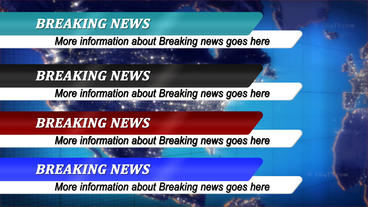 Clean News Lower Thirds After Effects Template