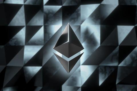 Ethereum currency logo 3D illustration Photo