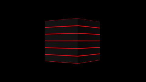 3D black cube, 4K computer generated animation CG動画