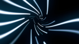 Wormhole tunnel through time and space, neon style Animation