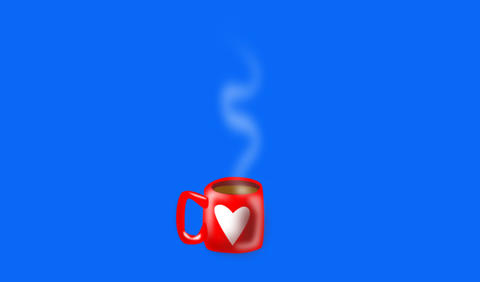 Steaming mug of coffee or tea Animation