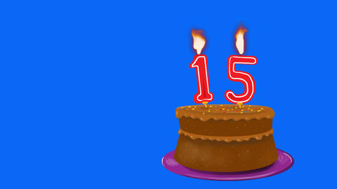 15th Birthday Cake Animation