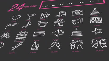 800+ Line Icon Pack After Effects Project