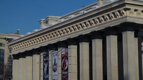 Opera Theatre In Novosibirsk Footage