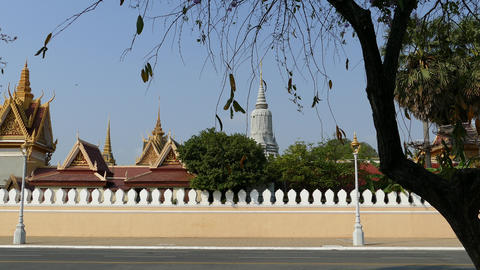 The Royal Palace in Phnom Penh Footage