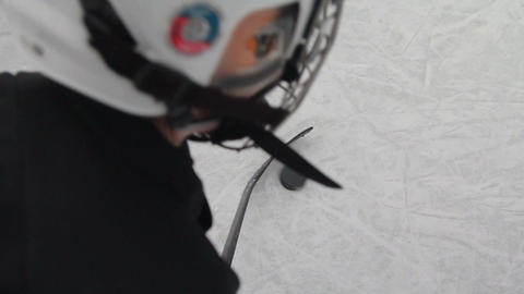 the training of a hockey player Live Action