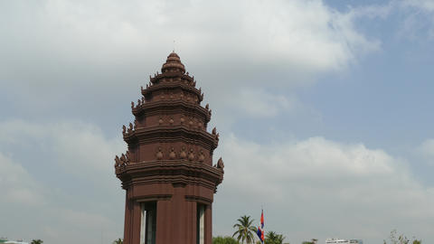 The Independence Monument in Phnom Penh Footage