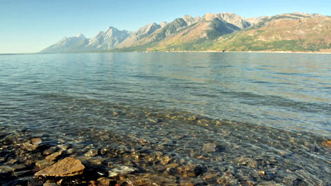 Jackson Lake in Wyoming Footage