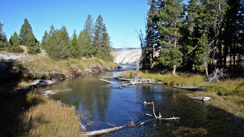 Yellowstone River Landscape stock footage