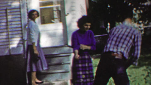 1958: Teenage girl attempt to tackle flirt hot sexy neighbor boy Footage