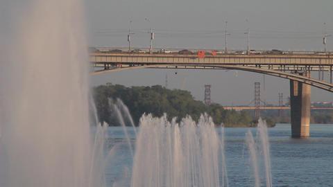 Metropolis. beautiful view of the bridge Footage